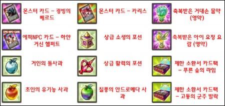 연금술사 제조 리스트
