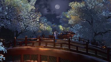 [대보름] 겨울 나무들 사이의 달
