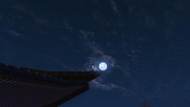 [천애공모전] 처마끝에 걸린 보름달