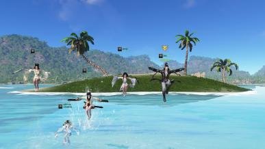 [의형제] 물 위에서 점프점프~
